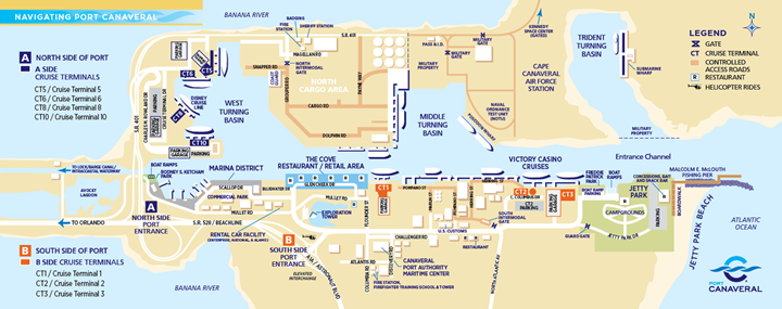 map port canaveral cruise terminal Port Canaveral map port canaveral cruise terminal
